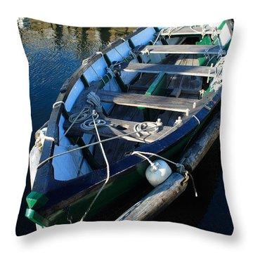 Green Dory Throw Pillow