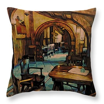 Green Dragon Writing Nook Throw Pillow