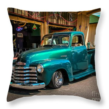Green Dreams Throw Pillow by Perry Webster