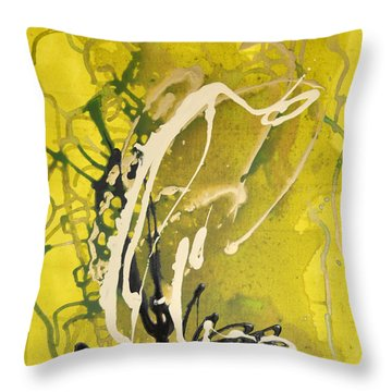 Green Earth Throw Pillow