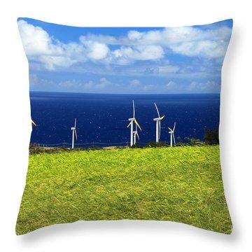 Green Energy Throw Pillow