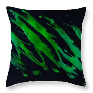 Green Escape Throw Pillow