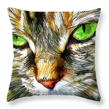 Green-eyed Monster Throw Pillow