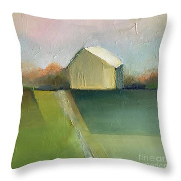 Green Field Throw Pillow