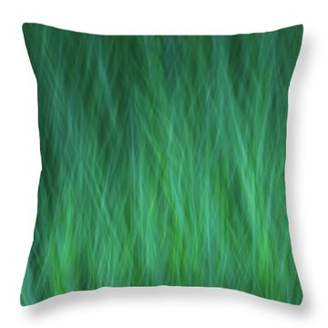 Green Fire 1 Throw Pillow