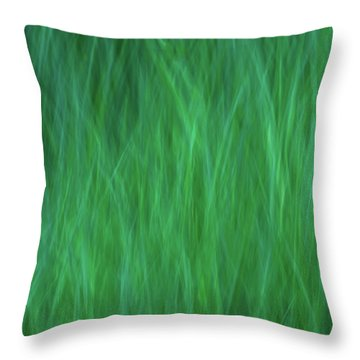 Green Fire 2 Throw Pillow
