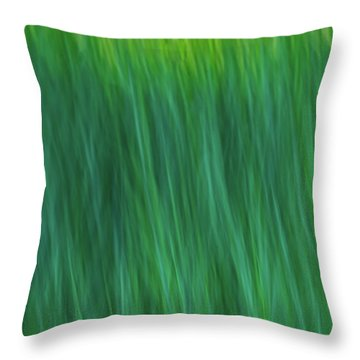 Green Fire 4 Throw Pillow