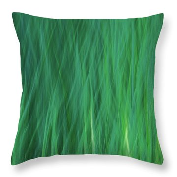 Green Fire 5 Throw Pillow