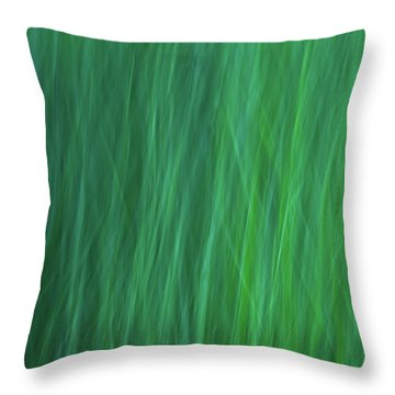 Green Fire 6 Throw Pillow