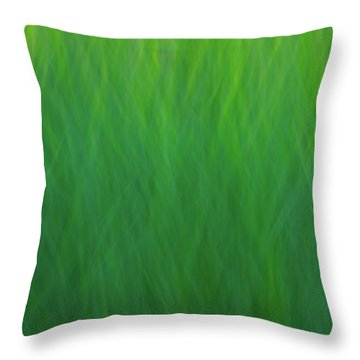 Green Fire 7 Throw Pillow