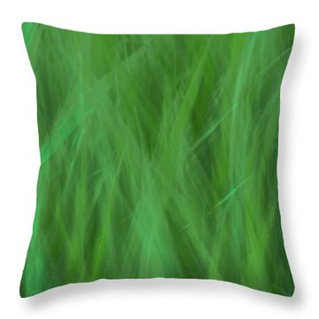 Green Fire 8 Throw Pillow