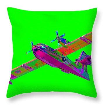 Green Fire Flight  Throw Pillow