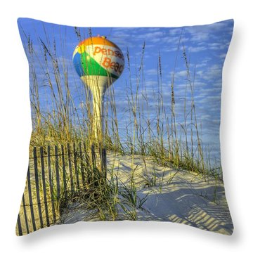 Green Flags On Pensacola Beach Throw Pillow