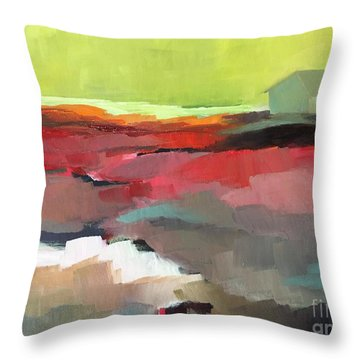 Green Flash Throw Pillow