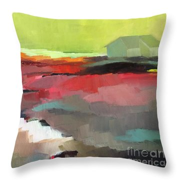 Green Flash Throw Pillow