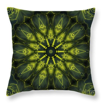 Succulent Mandala Throw Pillow