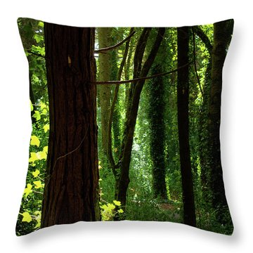 Green Forest Throw Pillow by Carlos Caetano