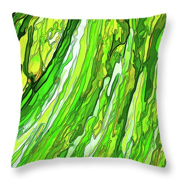 Green Garden Throw Pillow by ABeautifulSky Photography