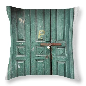 Green Gate Throw Pillow