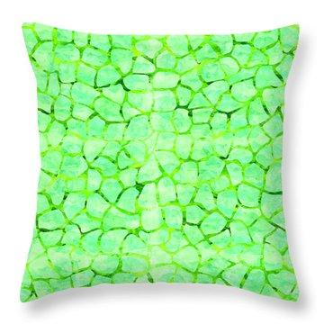 Green Giraffe Print Throw Pillow