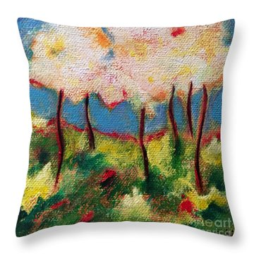 Green Glade Throw Pillow by Elizabeth Fontaine-Barr