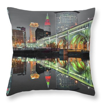 Throw Pillow featuring the photograph Green Glow by Frozen in Time Fine Art Photography