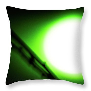 Throw Pillow featuring the photograph Green Goblin by Tyson Kinnison