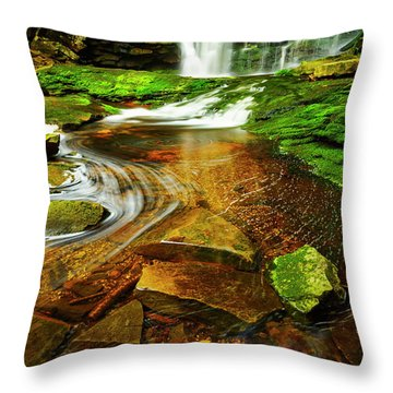 Green Grotto Throw Pillow