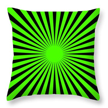 Throw Pillow featuring the digital art Green Harmony by Lucia Sirna