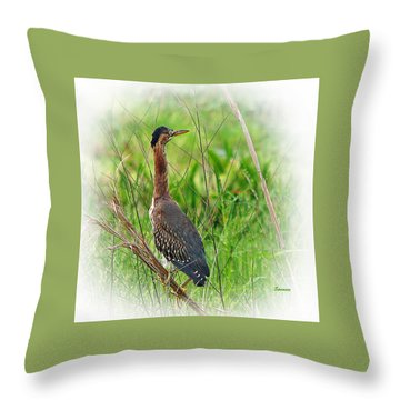 Green On Green Throw Pillow