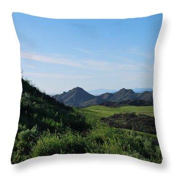 Throw Pillow featuring the photograph Green Hills Landscape by Matt Harang
