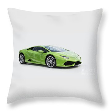 Green Huracan Throw Pillow