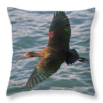 Green Ibis 6 Throw Pillow