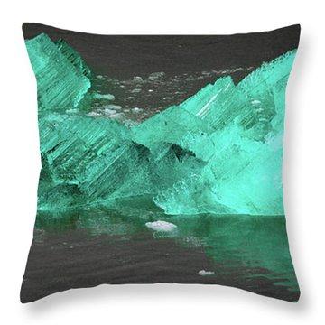 Green Iceberg Throw Pillow