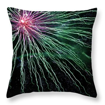 Green Independence Throw Pillow by Adam Long