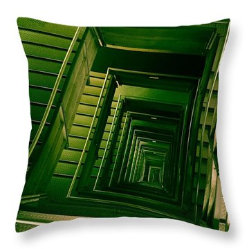 Green Infinity Throw Pillow