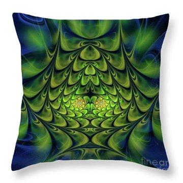 Throw Pillow featuring the digital art Green Island by Jutta Maria Pusl