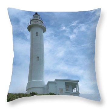 Throw Pillow featuring the photograph Green Island Lighthouse by Brian Eberly