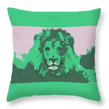 Green King Throw Pillow