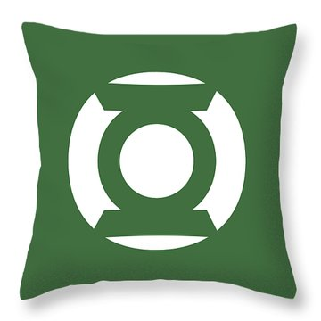 Green Lantern Throw Pillow