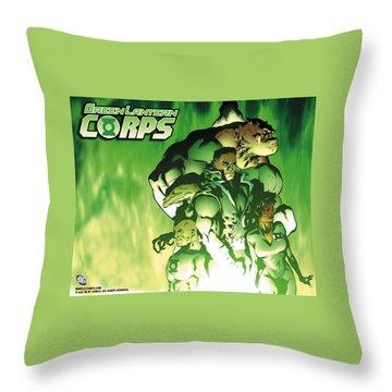 Green Lantern Corps Throw Pillow