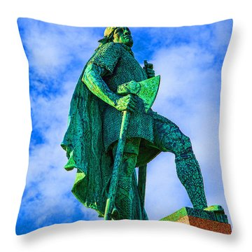 Green Leader Throw Pillow