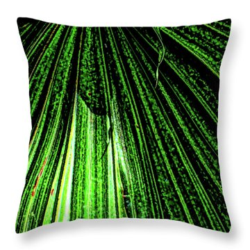 Green Leaf Forest Photo Throw Pillow