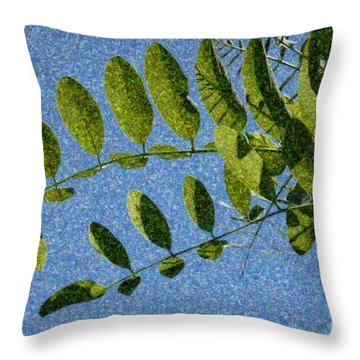 Green Leaves 2 Throw Pillow