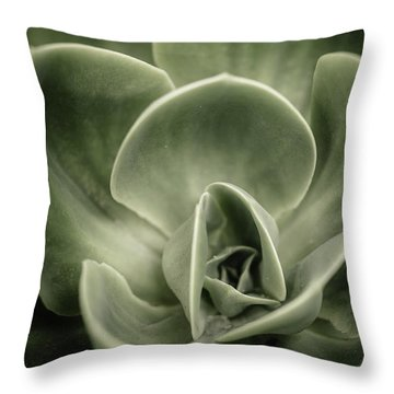 Throw Pillow featuring the photograph Green Leaves Abstract IIi by Marco Oliveira