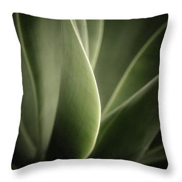 Throw Pillow featuring the photograph Green Leaves Abstract by Marco Oliveira