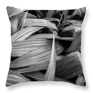Leaves Textured And Background Throw Pillow