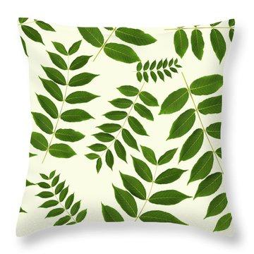Botanical Pattern Throw Pillow by Christina Rollo