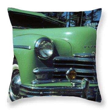 American Limousine 1957 - Historic Car Photo Throw Pillow