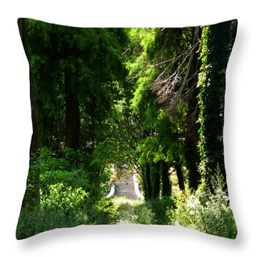 Green Lombardy Throw Pillow